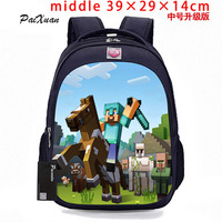 Student MineCraft Cartoon Backpack Boy Cartoon School Bags Hot Primary Backpack School Bags For Boys And