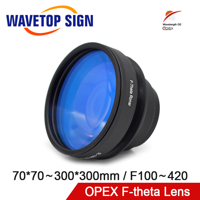 OPEX F-theta Field Scan Lens 1064nm 70x70-300x300mm F100-420nm for 1064nm YAG Optical Fiber Laser Marking Machine Parts