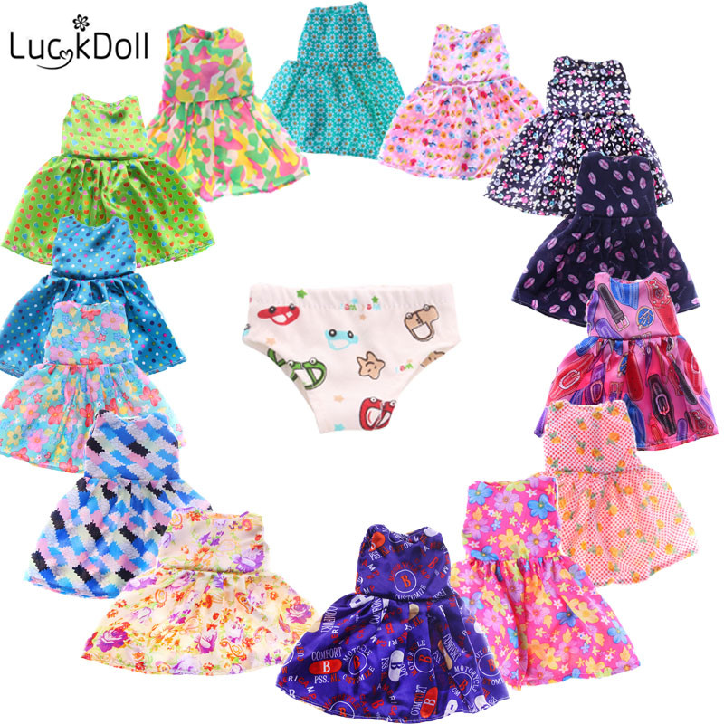 15pcs Cute Dress  Fit 18 Inch American 43cm Baby Doll Clothes Accessories, The Best Christmas Gift For Children