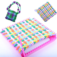 New Plastic Children Hand Knitting Loom DIY Educational Learn Toy Weaving Ring Weaving Machine