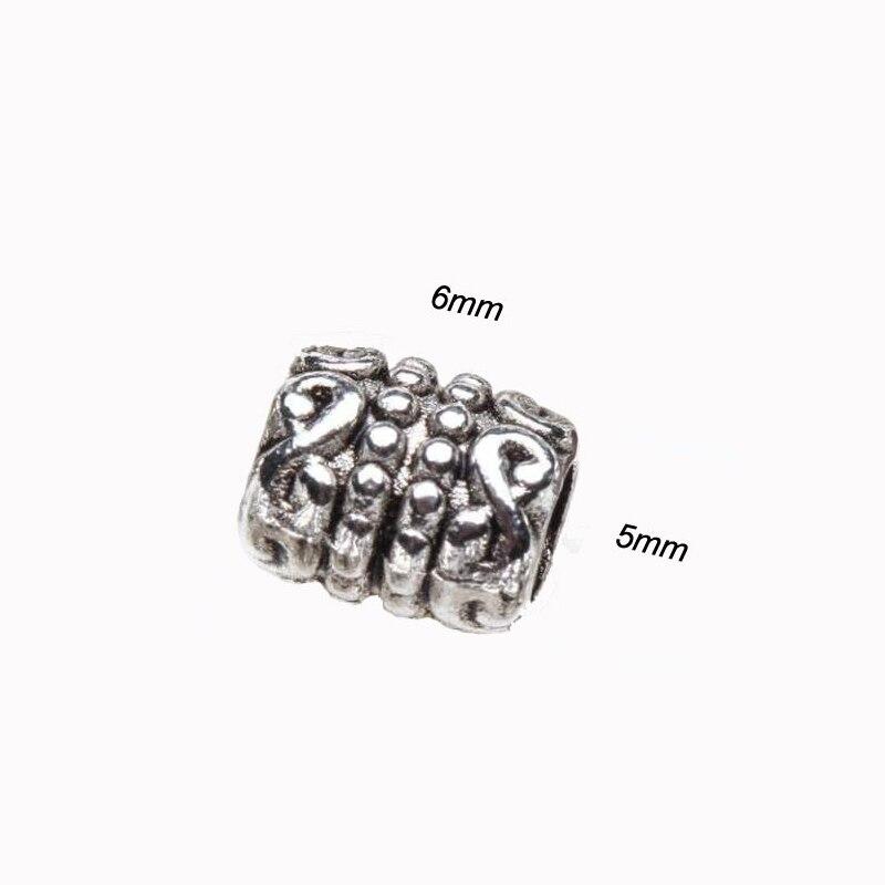 50 100 sts snidade lös spacer rör metall pärlor för smycken göra - Märkessmycken - Foto 2