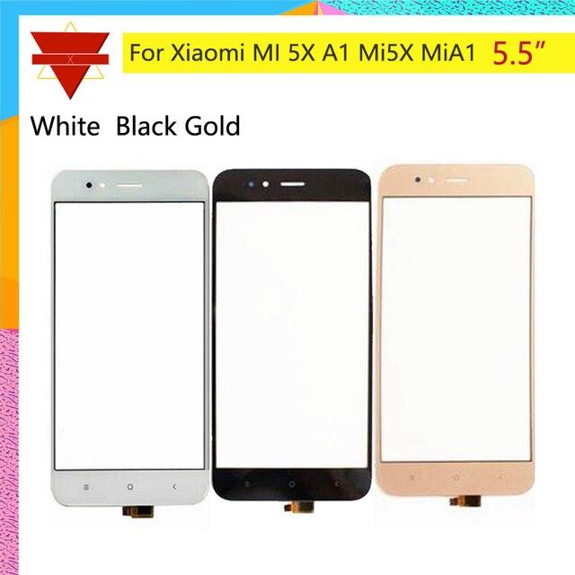 10pcs たくさんオリジナル mi 5X シャオ mi mi A1 5X mi 5X タッチスクリーンセンサー Lcd ディスプレイデジタイザフロント外側ガラス