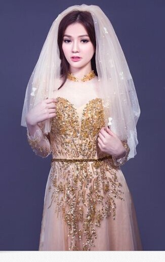 Vietnamese traditional dress wedding dress ao dai traditional long dress Tan-in  Wedding Dresses from Weddings   Events on Aliexpress.com  c38323b8d189