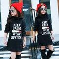 Niñas Camisetas Largas Vestidos para el Invierno Fleece Forrado Con Capucha Chicas Ropa de Invierno 2017 Ropa de Los Niños Kids Cuello Alto Vestido