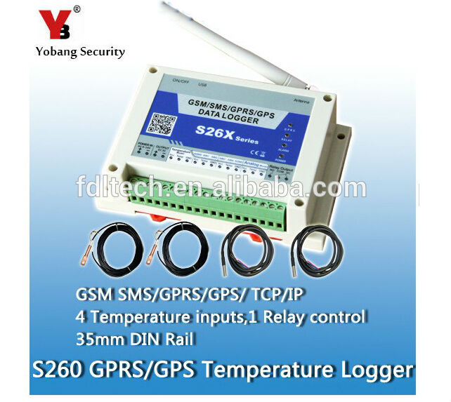 Yobang Security  S260 3G GSM/SMS/GPRS Temperature Data Logger With 2 Sensor/GSM SMS Controller,temperature range -55C to 125C стоимость