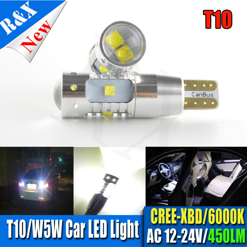 10x Hot sale 30W CANBUS Backup lights T10 T15 450lm 12V/24V auto parts super bright OEM/ODM auto lighting bulbs LED car lamp