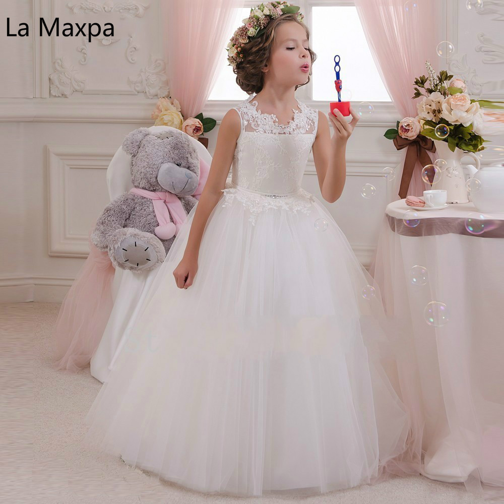 Children's Wedding Dress Lace Casual Butterflies White Mesh Birthday Party Dress Piano Show Girls Princesses Beautiful Dress