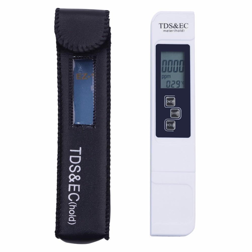10PCS LOT TDS Tester EC meter conductivity meter water measurement tool Function 3 in 1 0