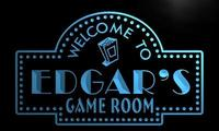 X0209 Tm Edgar S Home Theater Game Room Custom Personalized Name Neon Sign Wholesale Dropshipping