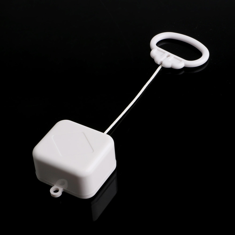 Pull String Cord Music Box White Baby Bed Bell Kids Toy Random Songs W15
