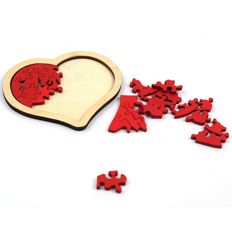 Baby Puzzle Toys Heart-shaped Wooden Puzzle Animal Educational Developmental Baby Kid Training Toy Educational Toy Gift