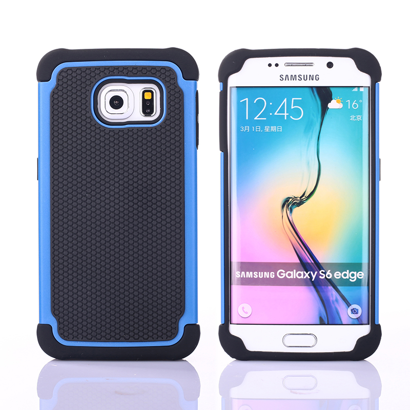 Ball Grain Shockproof Plastic Case Silicone Cover For Samsung Galaxy S6 S6 edge S7 S7 Edge S8 Plus Hybrid Cover