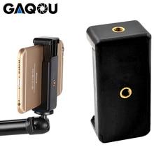 GAQOU universel monopode support Clip pour support Mobile pour caméra trépied support de montage support pour iPhone Samsung Xiaomi téléphone