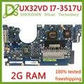 KEFU UX32VD материнская плата для ASUS UX32V UX32VD UX32A материнская плата для ноутбука I7-3517U процессор GT620M 2 Гб RAM оригинальная тестовая материнская плата