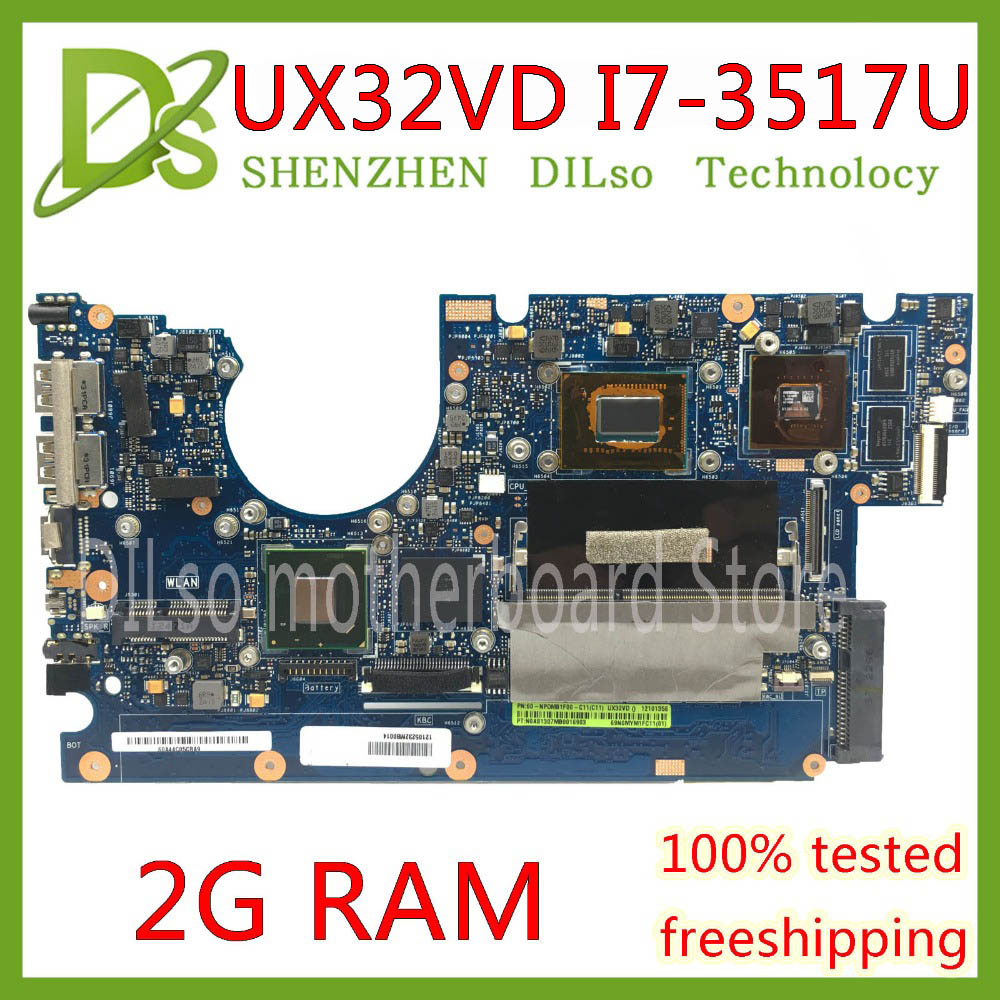 For ASUS ZENBOOK UX32VD Laptop Motherboard W// I7-3517 GT620M UX32VD Mainboard