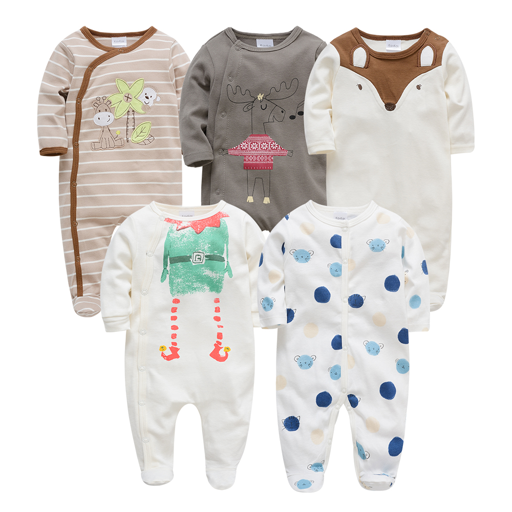 2020 Kavkas Baby Girl Roupa De Bebe Newborn Full Sleeve 3m 6m 9m 12m Infant Girl Rompers New Born Clothes Bebek Giyim Jumpsuits