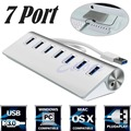 De aluminio de 7 puertos de alta velocidad usb 3.0 hub para apple pro mac macbook air pc portátil s127 hub usb