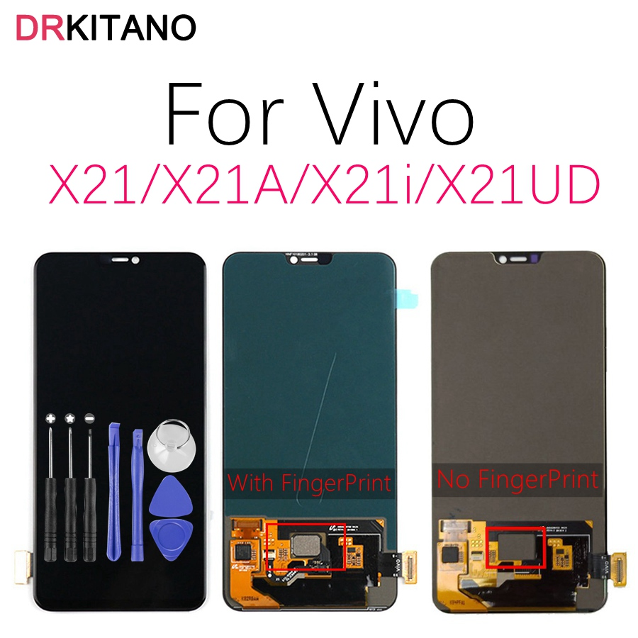 AMOLED Display For BBK Vivo X21 LCD Display Touch Screen Digitizer For Vivo X21 UD LCD
