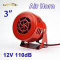 "110dB 12V 3"" Car Air Raid Siren Horn Red for Automotive Truck Motorcycle Driven Alarm"