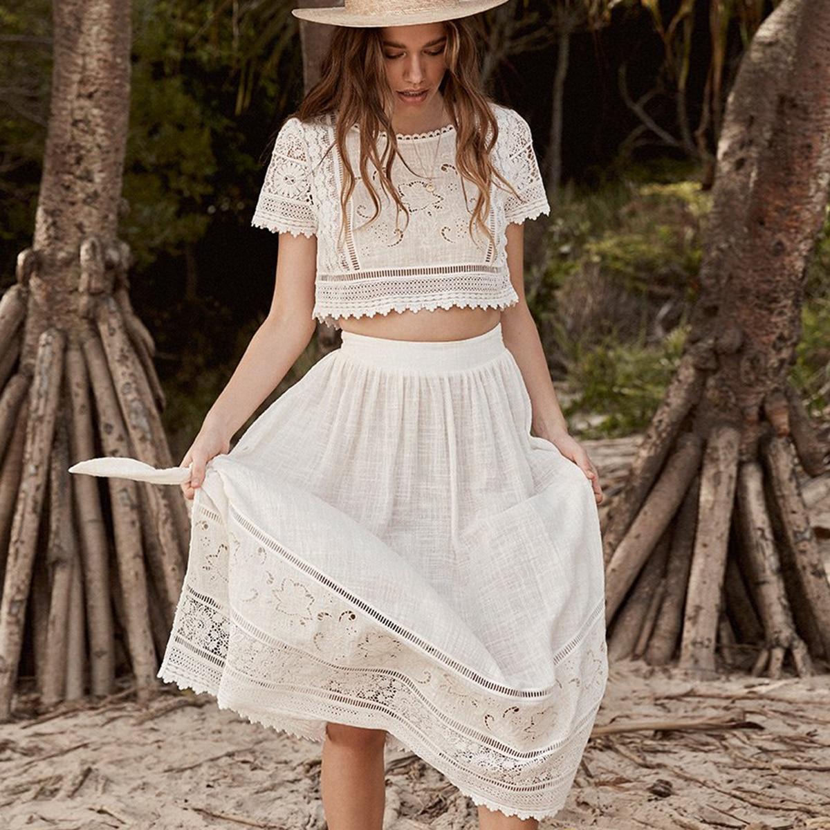 Abigail Lace Tie Side Skirt Set Women Summer Clothes 20 Vintage ...