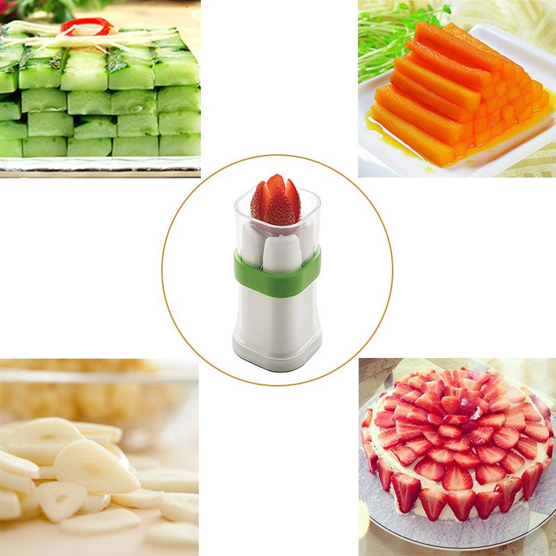 NORBIStainless Steel Cucumber Carrot Slicer Strawberry Tomato Slicer Vegetable Fruit Slicer Home Kitchen Accessories