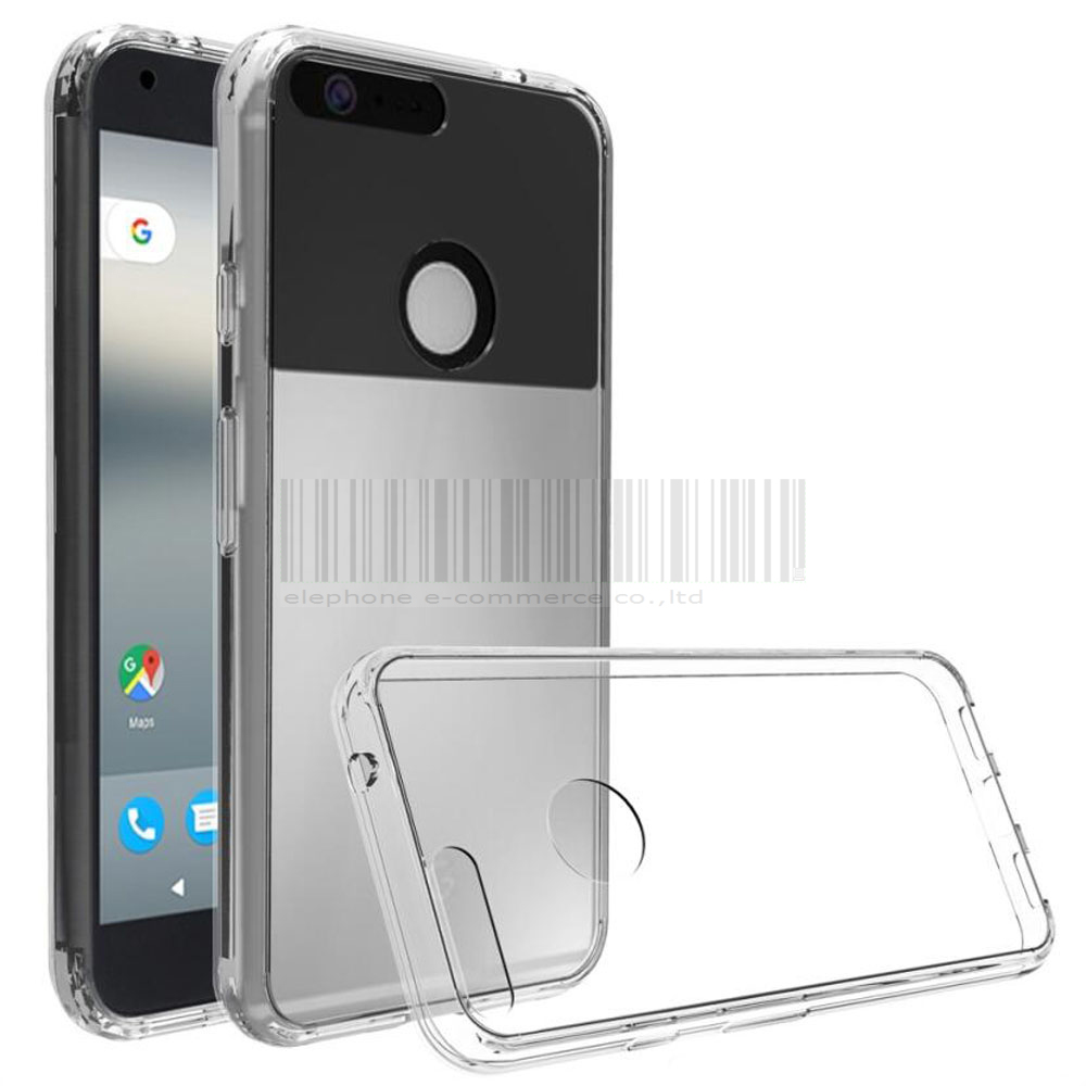 For Google Pixel/ Pixel XL Shockproof TPU Frame Acrylic Back Cover Ultra Thin Transparent Clear Case For Google Pixel/ Pixel XL