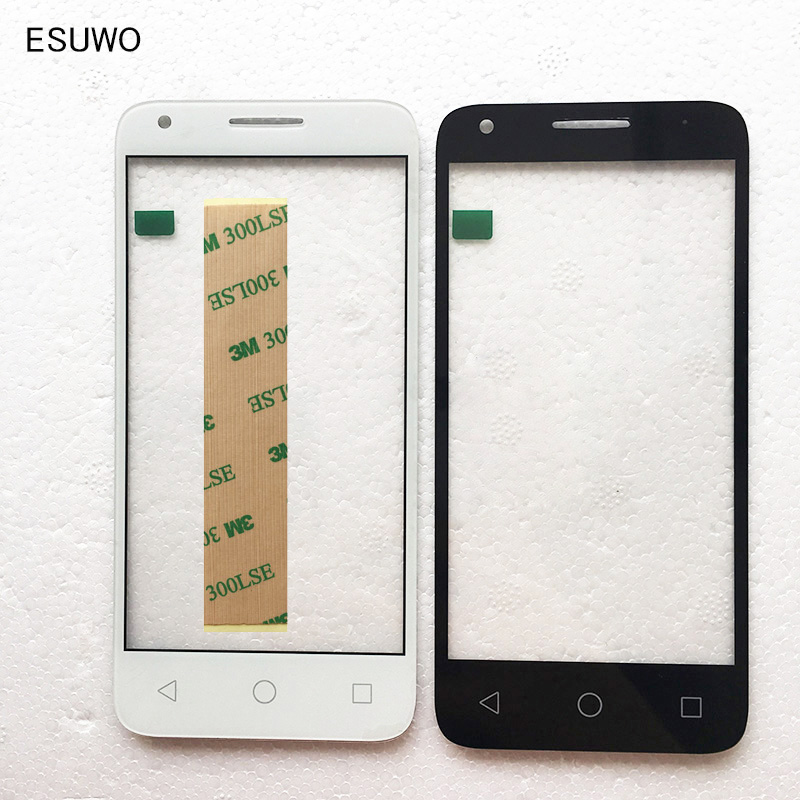 ESUWO Touch Screen Outer Front Glass For Alcatel One Touch 5019 5019A 5019X 5019D Pixi 3 Front Outer Glass Lens