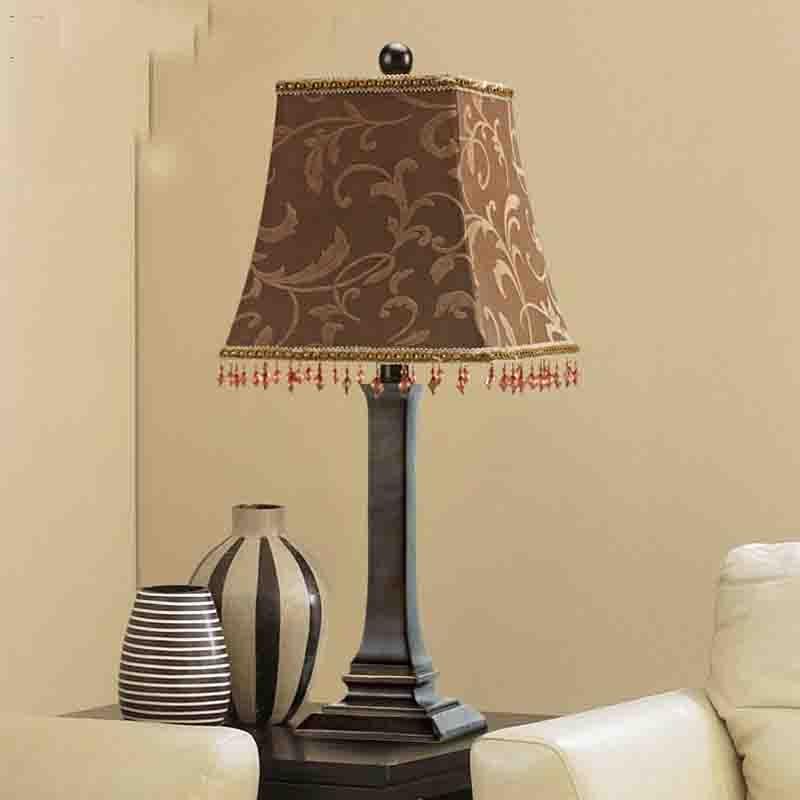 ФОТО Coffee Colors Table Lamp Modern Beauty Eyeshield Desk Lamp For Home Bedroom Living Room Decoration Bedside Lamp