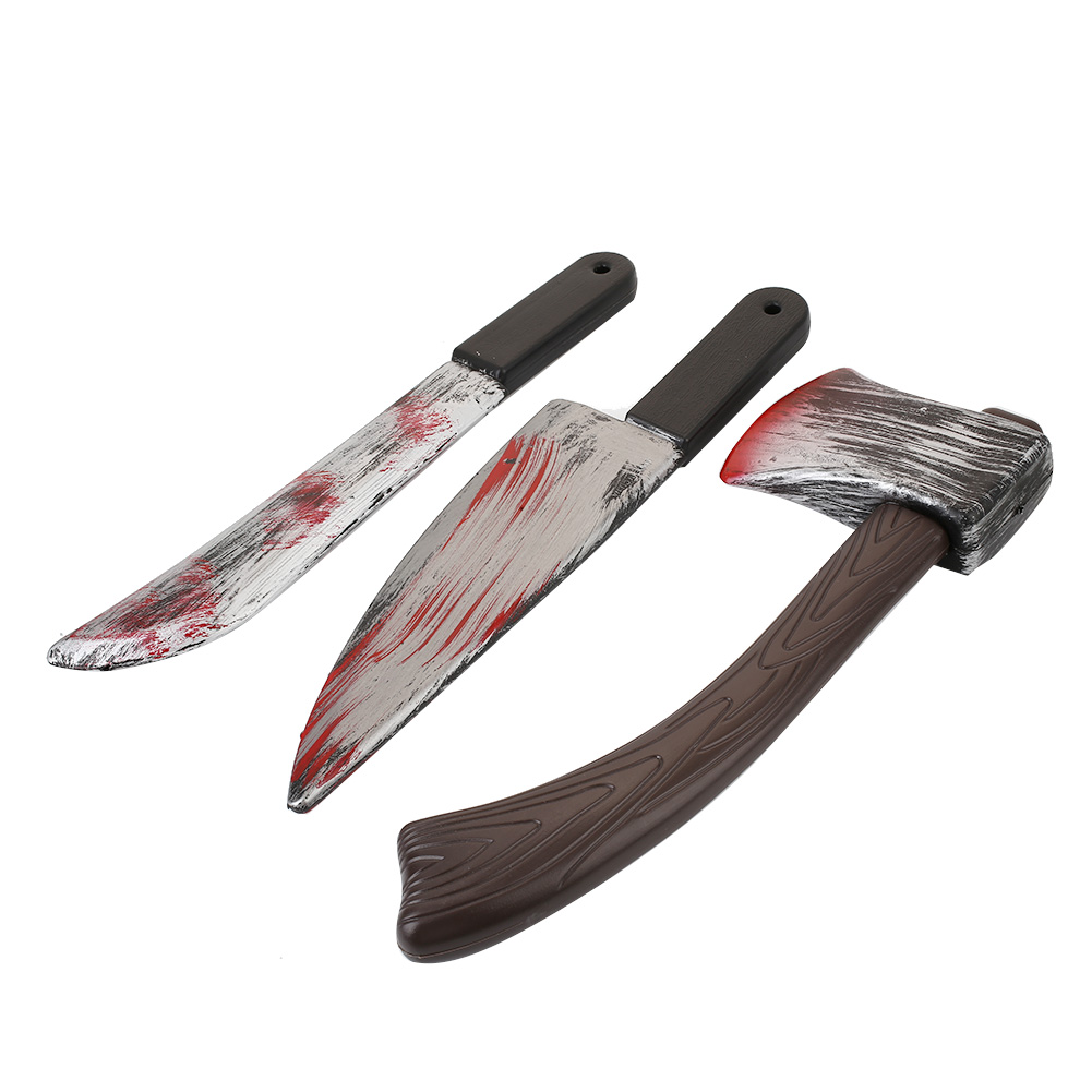 Simulation Bloody Cutlery Halloween Decoration <font><b>Horror</b></font> Party Supplies Fancy Knife Sickle Costume Access Party Supplies image