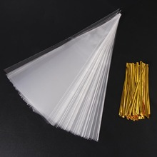 100pcs/Lot DIY Candy Bag Wedding Favors Birthday Party Decoration Sweet Cellophane Transparent Cone Storage With Organza Pouches