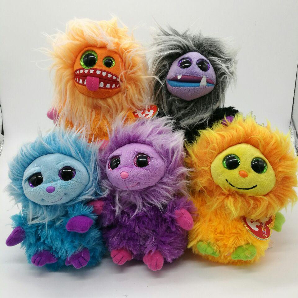 Original Ty Frizzys Stuffed Animal Mops Plopsy Jips Zwippy