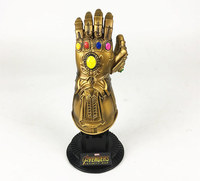 [Funny] HOT Infinity Gauntlet Thanos gem Gloves model Avengers Infinity War Action Figure Toy resin decoration collection model