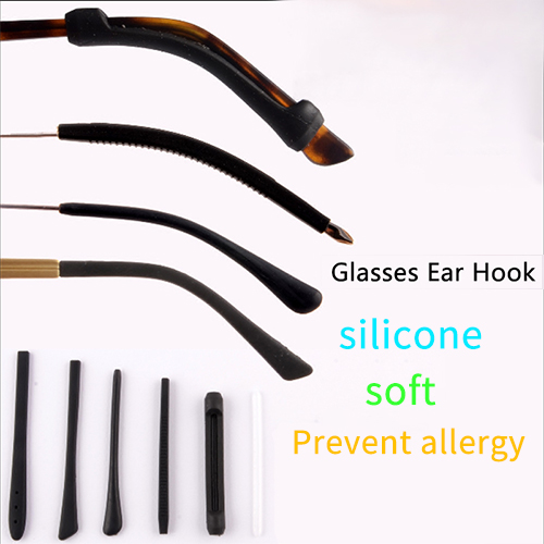 1Pairs/lot Anti Slip Silicone Glasses Ear Hooks For Kids And Adults Round Grips Eyeglasses Sports Temple Tips Soft Ear Hook
