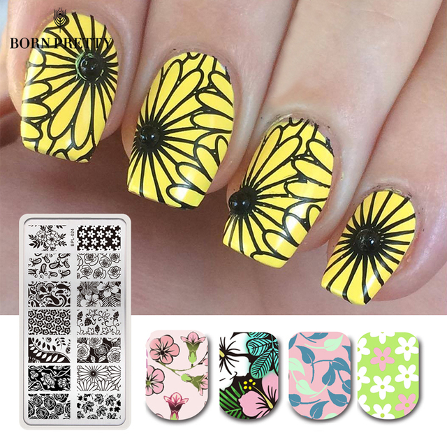 Born Pretty Nail Stamping Plates Lace Flower Animal Pattern Nail Art