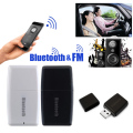2 in 1 Wireless Bluetooth V4.1 + EDR 3.5mm Music Audio Receiver A2DP Stereo Car FM Transmitter L3FE