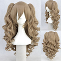 Gothic Lolita Wig + 2 Pig Tails Set Light,  Mix Blend Clip On Ponytail no lace Kanekalon Fiber Hair wigs