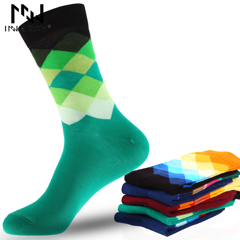 Innersy 2017 Brand 5Pcs/lot Socks Men Socks Long Deodorize Socks Cotton Boys Socks Casual Wear Colorful Stocking Pattern Men ...