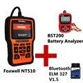 Leitores de código de varredura ferramentas elm327 V1.5 obd2 adaptador bluetooth nt510 BST200 Auto Battery Analyzer automotive ferramenta de diagnóstico scanner