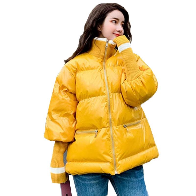Mujer Donne Parka Nuovo Coreano Giubbotti Cappotto Invierno Cotone  Femminile Di yellow Caldo 2019 Modo In Spessore ... 4b4ea80a13e