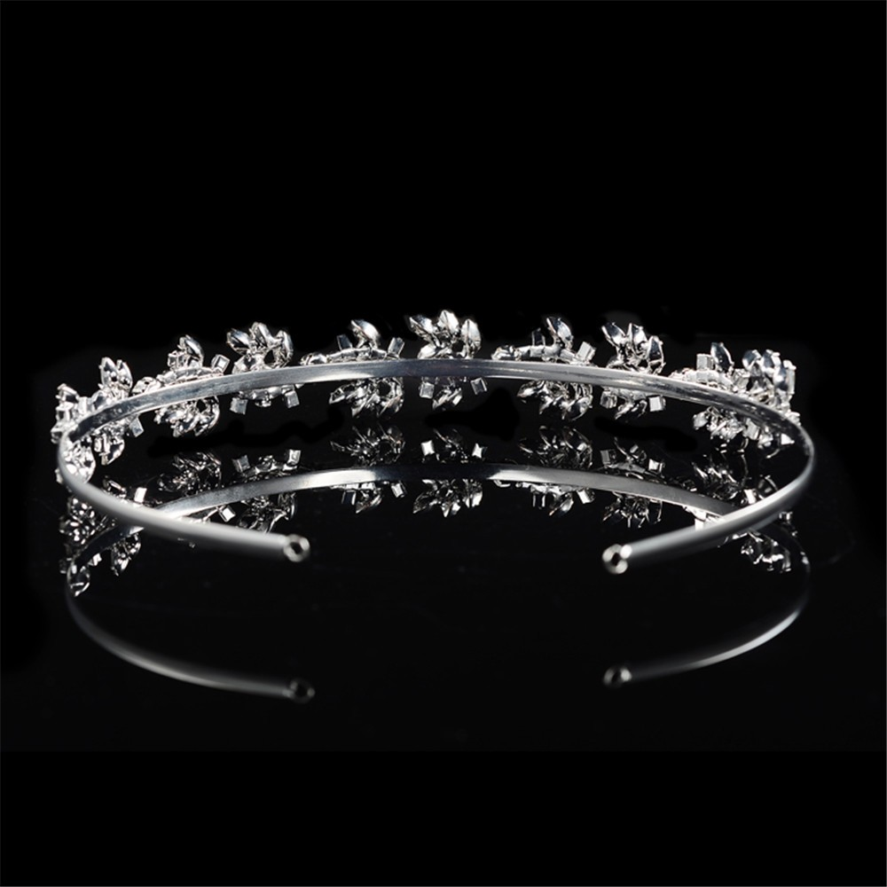 925 sterling silver luxury shine AAA CZ diamond tiara for women party wedding hair acessorios bridesmaid crown 585 gold plated crystal jewelry HF046 (4)