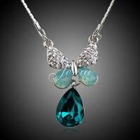 Jenia fabricante abastecimento moda cor ouro branco strass cristais jóias colar para mulheres xn038
