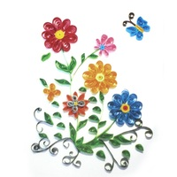 3D Colorful Flower Model Paper Quilling Folded Painting Craft For Children DIY Handmade Toy Best Choice