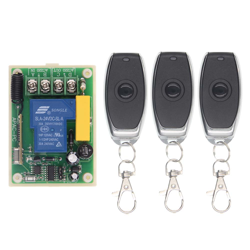 AC 220V 30A 1CH 1 CH Remote Control Switch RF Wireless Receiver Transmitter 315 / 433.92 MHz Toggle / Latched / Momentary wireless switch rf wireless remote control switch system 3 transmitter 4 receiver switch 12v 10a 1ch toggle momentary latched