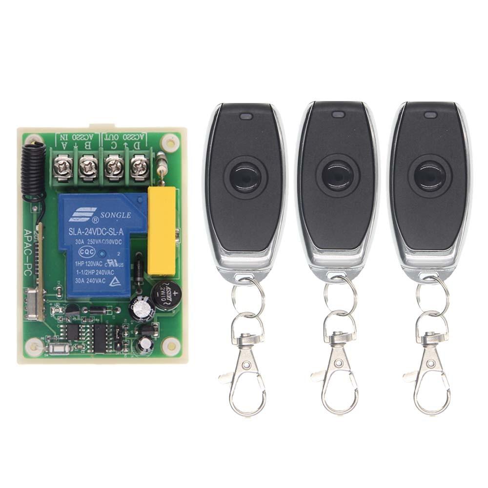 AC 220V 30A 1CH 1 CH Remote Control Switch RF Wireless Receiver Transmitter 315 / 433 MHz Toggle ac 220v 30a 1ch rf wireless remote control switch system 315 433 mhz 6ch transmitter