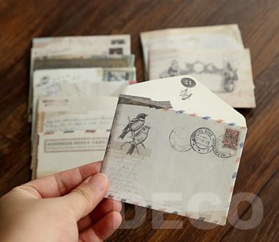24pcs/lot Vintage MINI Kraft Envelope Set, Fancy Envelopes, Lovely Stationary(SS-4922)