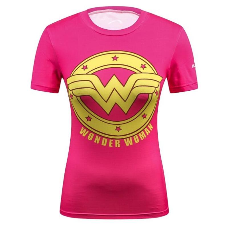 Женская одежда супергероя фильм Wonder Woman Supergirl Капитан Америка Batwoman тренировки футболки
