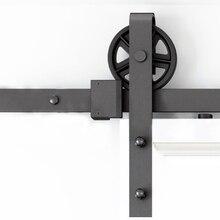 DIYHD 150 см-300 см винтажные спицы промышленные колеса раздвижные сарай деревянная дверь межкомнатная дверь шкафа кухонная дверь дорожка оборудование