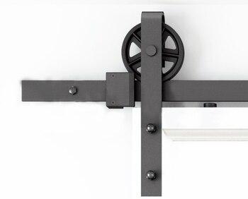 DIYHD 150 см-300 см винтажное спицевое Промышленное колесо, раздвижной амбар, деревянная дверь, внутренняя дверь шкафа, дверь кухни, дверная дорож...