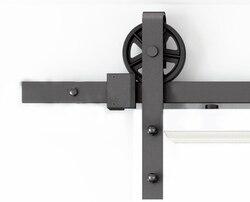 DIYHD 150 cm-300 cm Vintage Speichen Industrielle Rad Schiebe Barn Holz Tür Innen Schrank Tür Küche Tür Track hardware