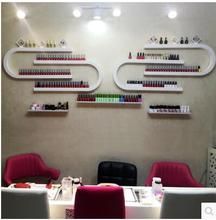 U-nail nail polish display is a DIY combination of cosmetic rack wall hanging lipstick